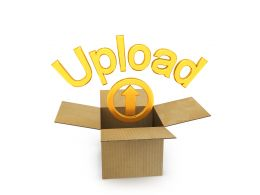 Box With Upload Option Display Stock Photo