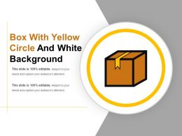 Box With Yellow Circle And White Background