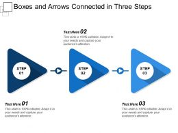 Boxes And Arrows Connected In Three Steps