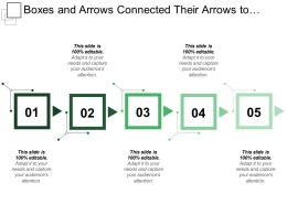 Boxes And Arrows Connected Their Arrows To One Another