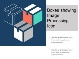 Boxes Showing Image Processing Icon