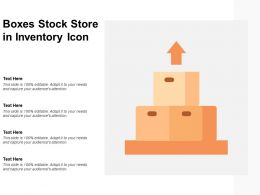 Boxes Stock Store In Inventory Icon