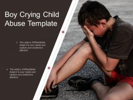 Boy Crying Child Abuse Template