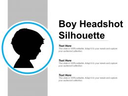 Boy Headshot Silhouette Example Of Ppt