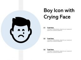 Boy Icon With Crying Face