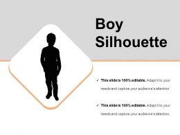Boy Silhouette Sample Of Ppt