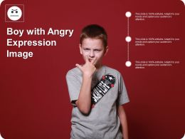 Boy With Angry Expression Image
