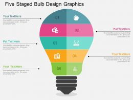 bp Five Staged Bulb Design Graphics Flat Powerpoint Design
