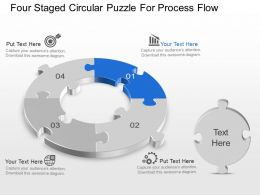 Bp Four Staged Circular Puzzle For Process Flow Powerpoint Template Slide