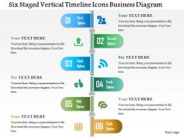 Bp Six Staged Vertical Timeline Icons Business Diagram Powerpoint Templets