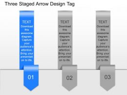 bp Three Staged Arrow Design Tags Powerpoint Template