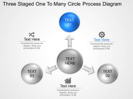 Bp Three Staged One To Many Circle Process Diagram Powerpoint Template