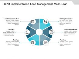 Bpm Implementation Lean Management Mean Lean Thinking Model Cpb