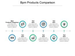BPM Products Comparison Ppt Powerpoint Presentation Icon Graphic Tips Cpb