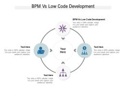 BPM Vs Low Code Development Ppt Powerpoint Presentation Portfolio Layout Cpb