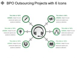 Bpo Outsourcing Projects With 6 Icons