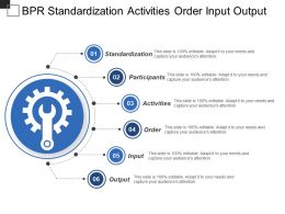 Bpr Standardization Activities Order Input Output