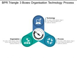Bpr Triangle 3 Boxes Organisation Technology Process