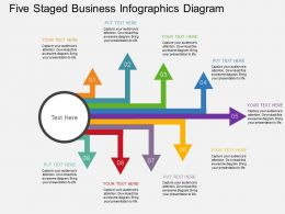 bq Five Staged Business Infographics Diagram Flat Powerpoint Design