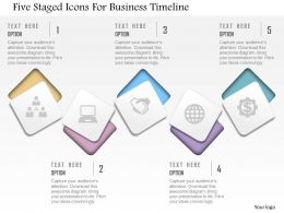 Bq Five Staged Icons For Business Timeline Powerpoint Template