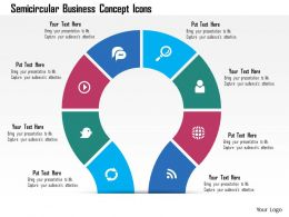 Bq Semicircular Business Concept Icons Powerpoint Template