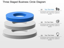bq Three Staged Business Circle Diagram Powerpoint Template