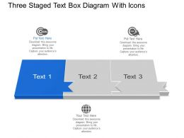 Bq Three Staged Text Box Diagram With Icons Powerpoint Template