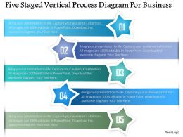 Br Five Staged Vertical Process Diagram For Business Powerpoint Template
