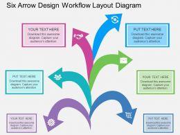 br_six_arrow_design_workflow_layout_diagram_flat_powerpoint_design_Slide01