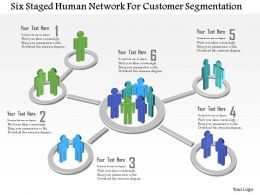 Br Six Staged Human Network For Customer Segmentation Powerpoint Template