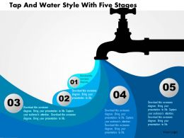 Br Tap And Water Style With Five Stages Powerpoint Templets