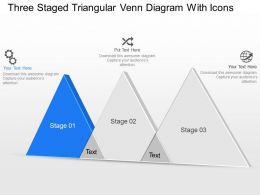 Br Three Staged Triangular Venn Diagram With Icons Powerpoint Template