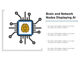 Brain And Network Nodes Displaying Ai