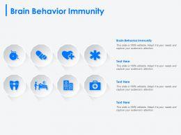 Brain Behavior Immunity Ppt Powerpoint Presentation Pictures Display