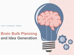 Brain Bulb Planning And Idea Generation Gear Business