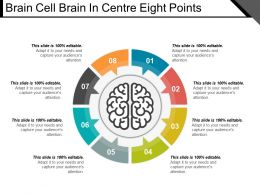Brain Cell Brain In Centre Eight Points