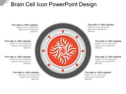 Brain Cell Icon Powerpoint Design