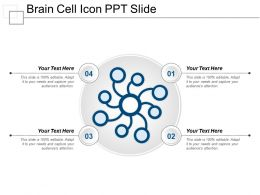 Brain Cell Icon Ppt Slide