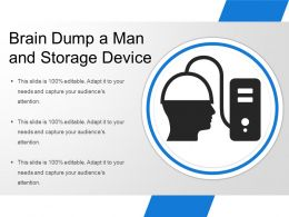 Brain Dump A Man And Storage Device