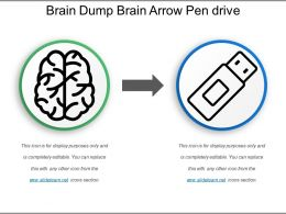 Brain Dump Brain Arrow Pen Drive