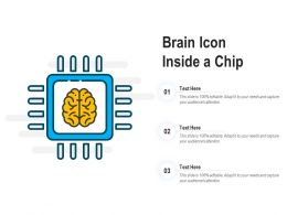 Brain Icon Inside A Chip