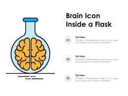 Brain Icon Inside A Flask