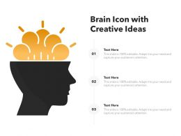 Brain Icon With Creative Ideas