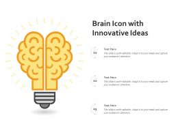 Brain Icon With Innovative Ideas