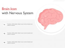 Brain Icon With Nervous System