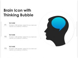 Brain Icon With Thinking Bubble