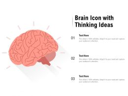 Brain Icon With Thinking Ideas