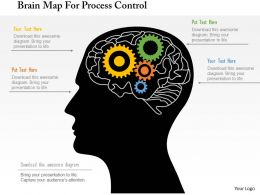 Brain Map For Process Control Powerpoint Template