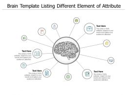 Brain Template Listing Different Element Of Attribute