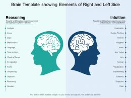 Brain Template Showing Elements Of Right And Left Side